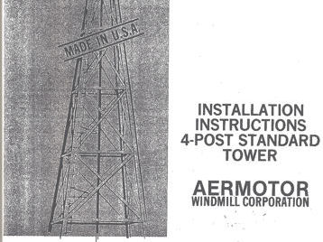 Directions for Erecting on a Steel Tower Geared Aermotor